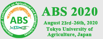ABS 2020, 6th International Conference on Agricultural and Biological Sciences, 23-26 August 2020, Tokyo, Japan.