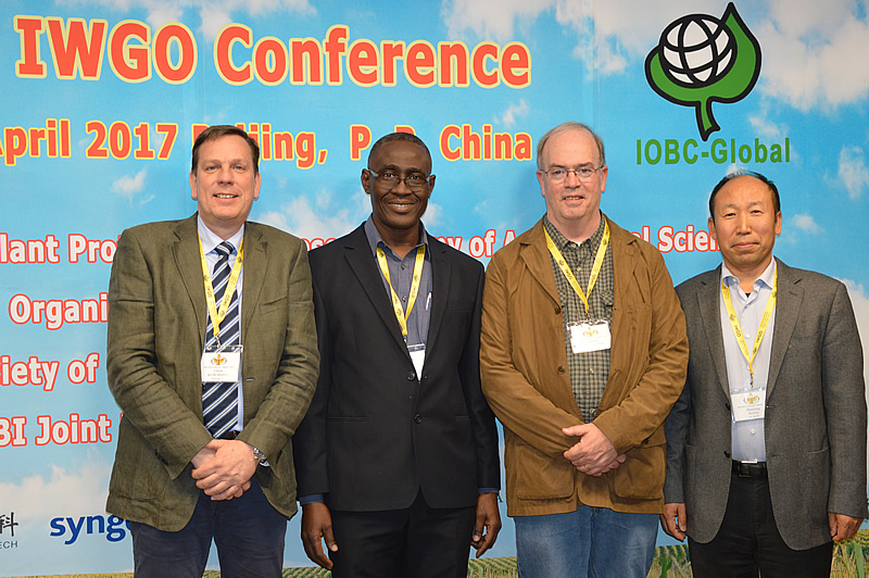IWGO Convenors and Victor Clottey, IWGO Conference 2017 (from left: Ulli Kuhlmann, Victor Clottey, Tom Sappington, Wang Zhenying)