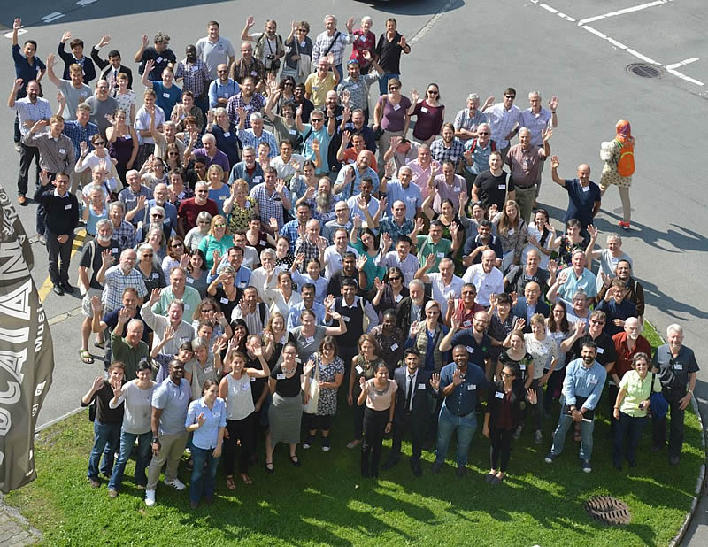 Group Photo: Participants of the International Symposium on Biological Control of Weeds 2018 in Engelberg, Switzerland.